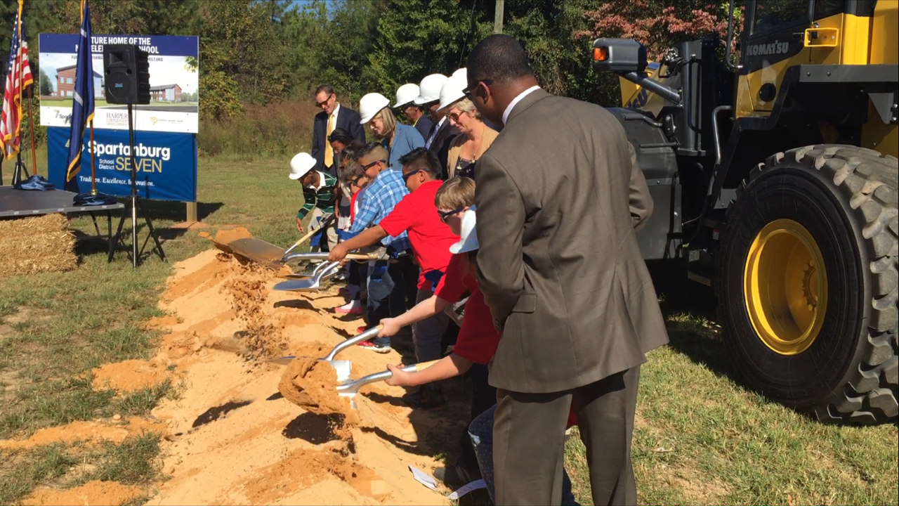 Spartanburg School District 7 breaks ground on new elementary school