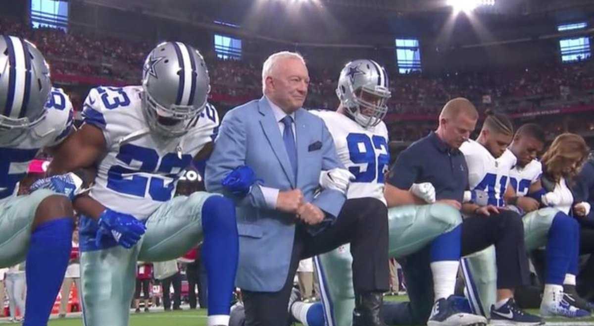 Trump to NFL: Ban kneeling during national anthem