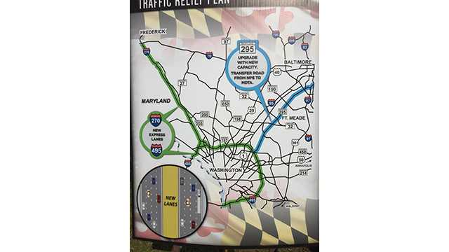 Hogan announces $9B plan to widen 3 highways