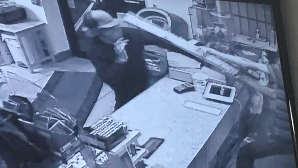 Clerk chases off crook dressed as ninja