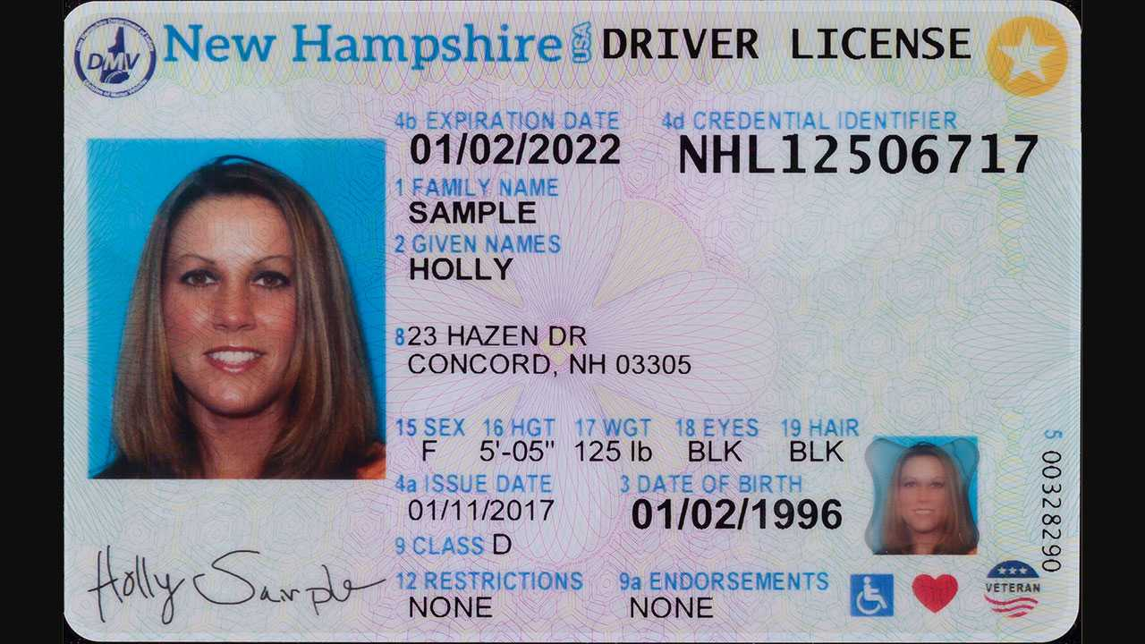 New New Hampshire driver's license