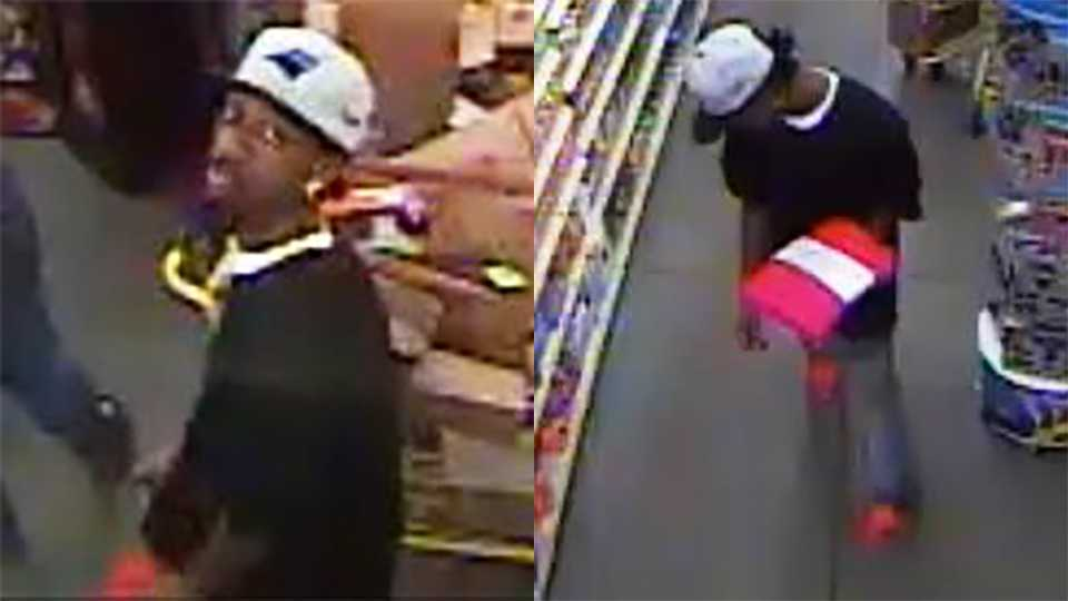 Surveillance images of suspect in alleged lewd sex act in Thomasville Dollar General