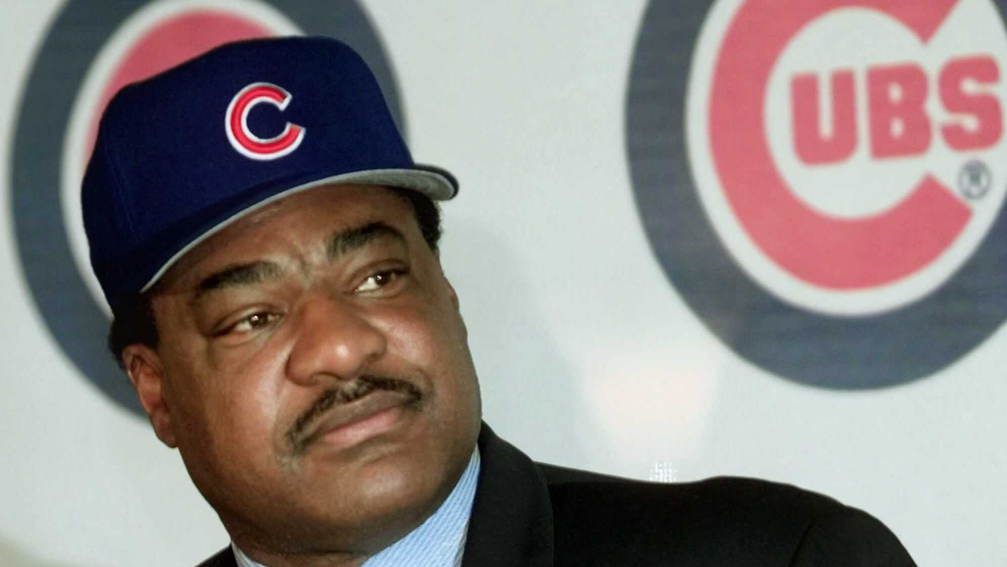 Don Baylor listens to reporters after being named the new Chicago Cubs manager Monday, Nov. 1, 1999, during a news conference at Wrigley Field in Chicago.