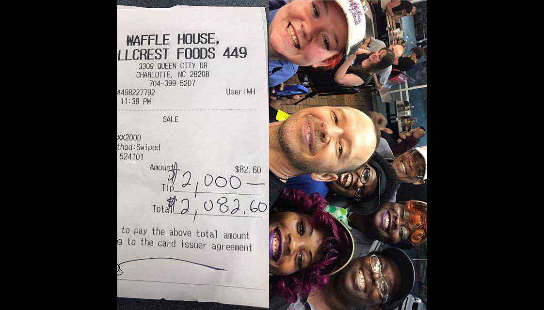 Donnie Wahlberg Leaves $2000 Tip at North Carolina Waffle House