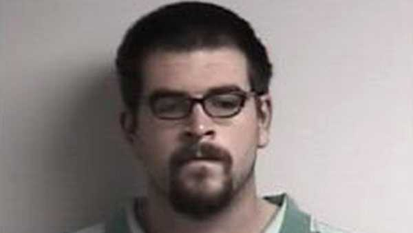 This undated image provided by the Elizabeth City Police Department shows Bradley Hardison. A North Carolina man who made headlines when he was caught for break-ins after winning a doughnut-eating contest has been arrested again. The Virginian-Pilot newspaper reports that Hardison was charged Thursday, Jan. 18, 2018, with stealing from a Dunkin' Donuts in November.