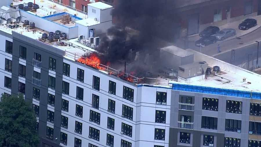 Fire destroys newly-built Treadmark building in Ashmont