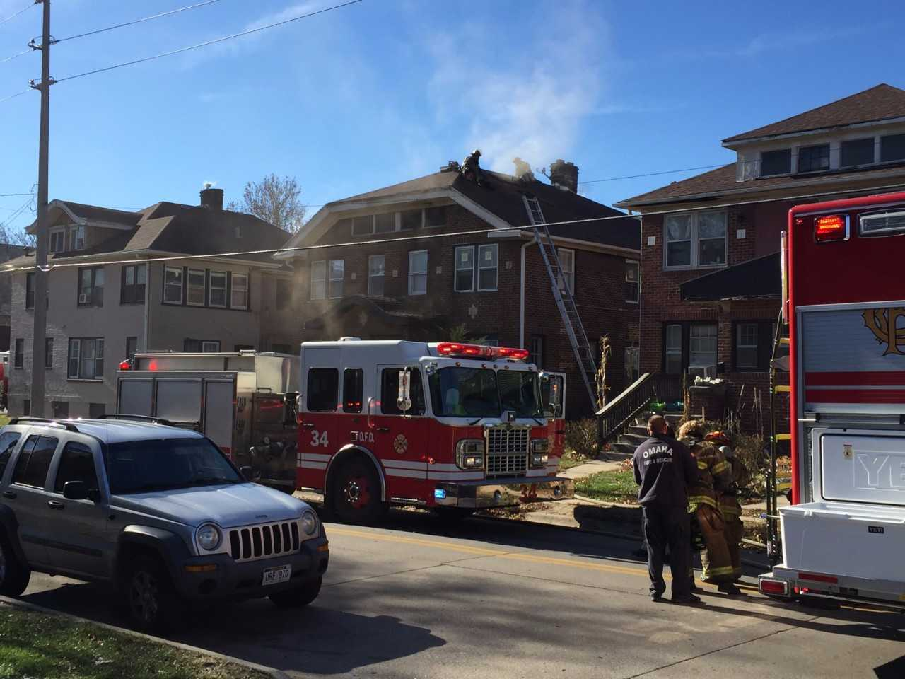 Three families displaced by fire at Omaha duplex