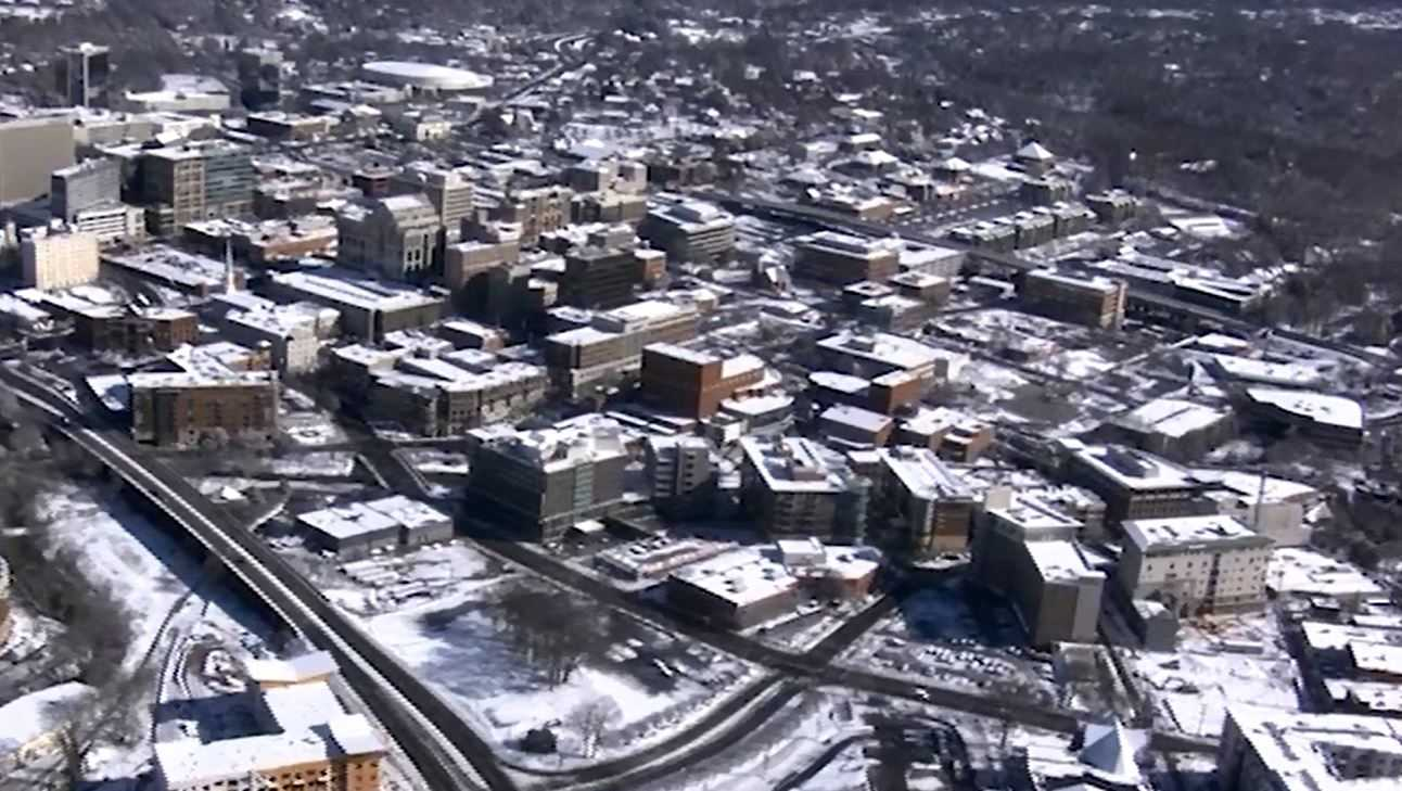 Sky 4 in Downtown Greenville snow