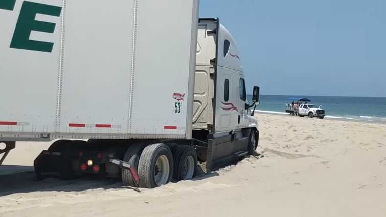 Truck stuck on NC beach