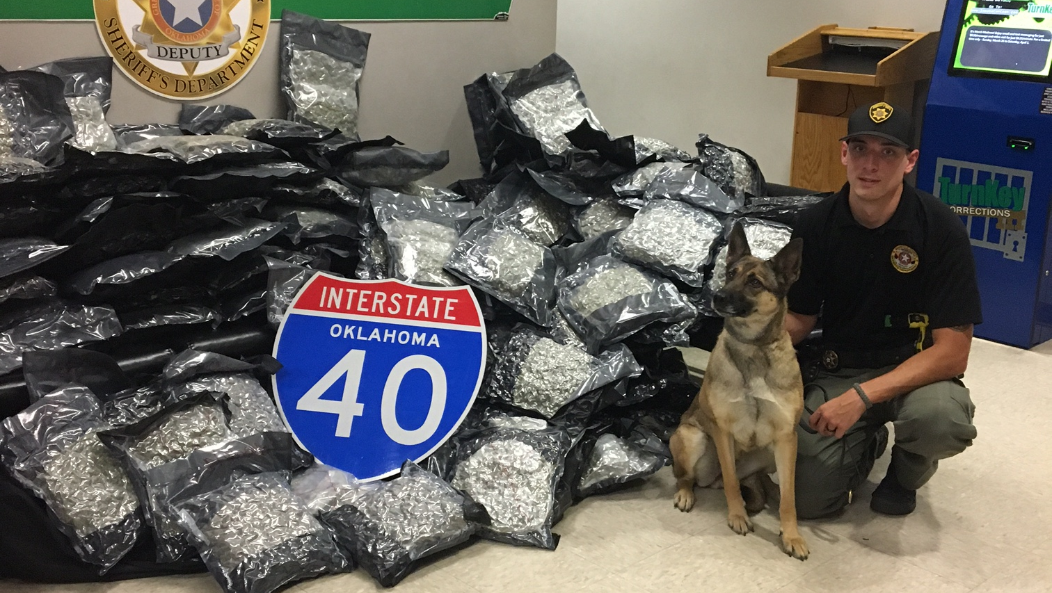 Sequoyah County seized 260 pounds of marijuana inside a vehicle on I-40