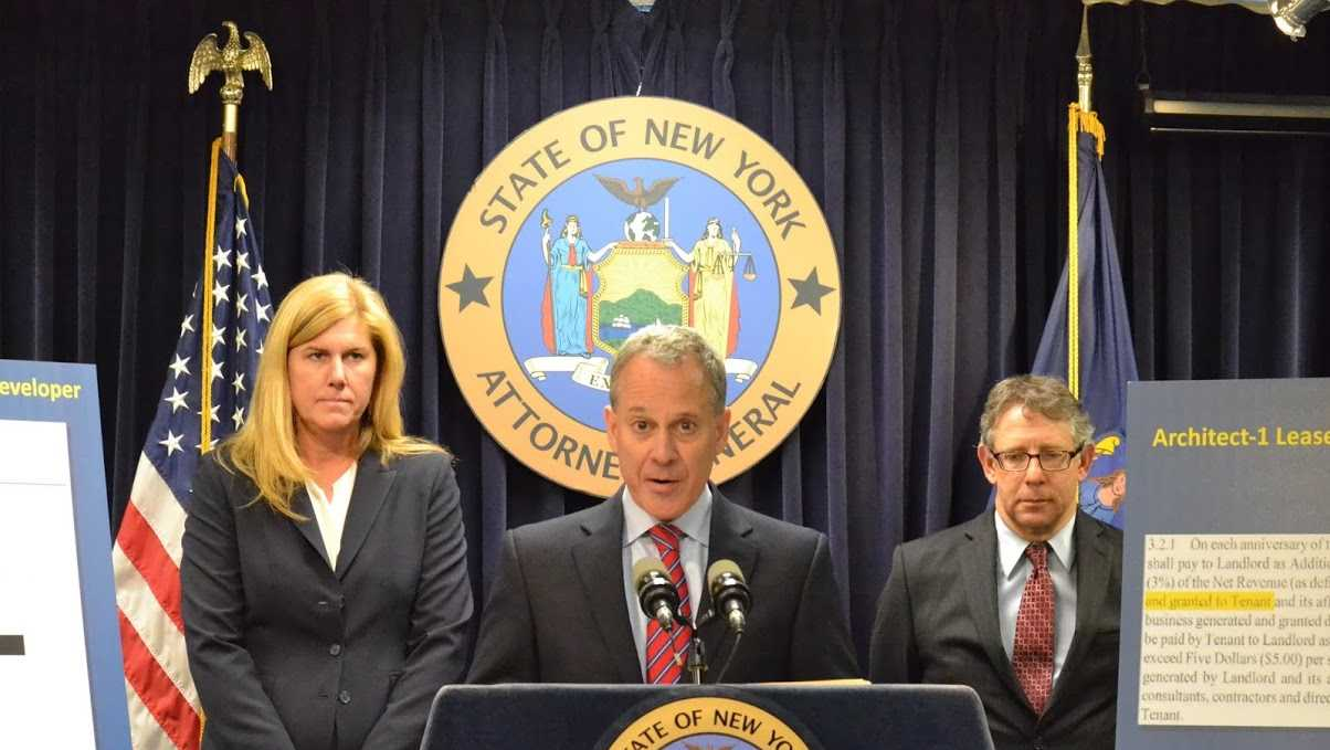 Attorney General Eric T. Schneiderman announces corruption charges