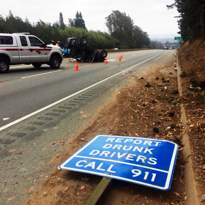 """Deputies Say Driver Could Be Charged With Dui Following: CHP: Drunk Aptos Driver Crashes Into """"Report Drunk Drivers"""
