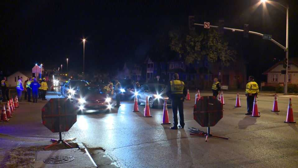 DUI checkpoint in Kansas City