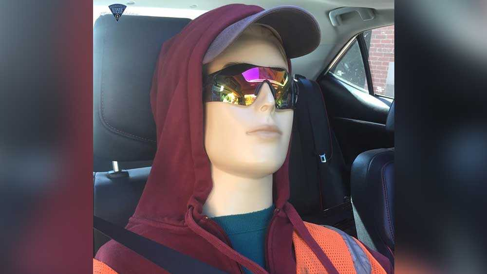 Driver, dummy busted for using HOV lane