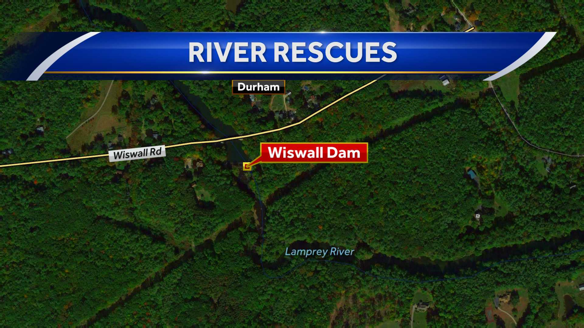 Swimmers stranded on island in Durham river
