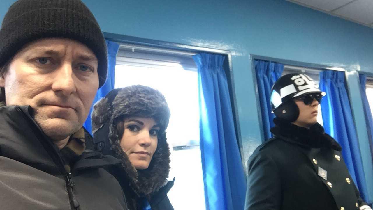 Travers and Megan Mackel in DMZ
