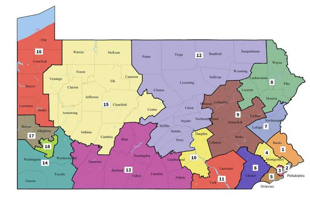 Pennsylvania Supreme Court releases new state congressional voting map