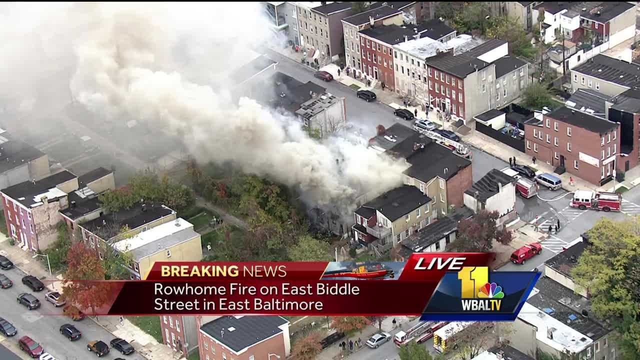 East Baltimore rowhome fire