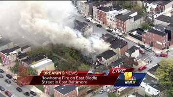 East Baltimore rowhome fire