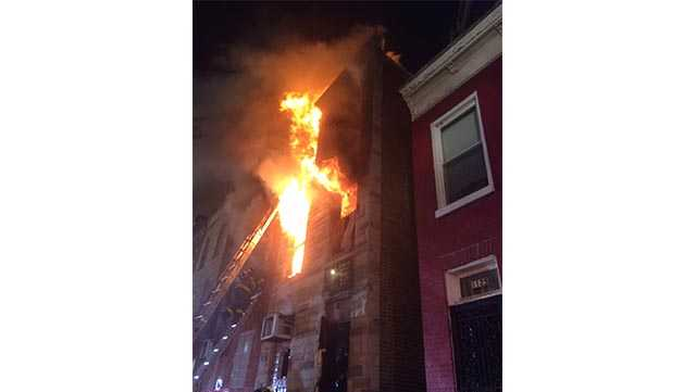 Fire officials said a fire was reported at 6:48 a.m.  on Jan. 31, 2017 at the intersection of Greenmount Avenue and East Biddle Street.