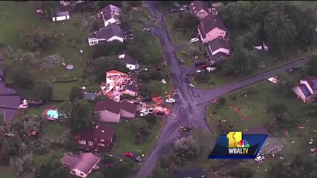 Eastern Shore possible tornado damage