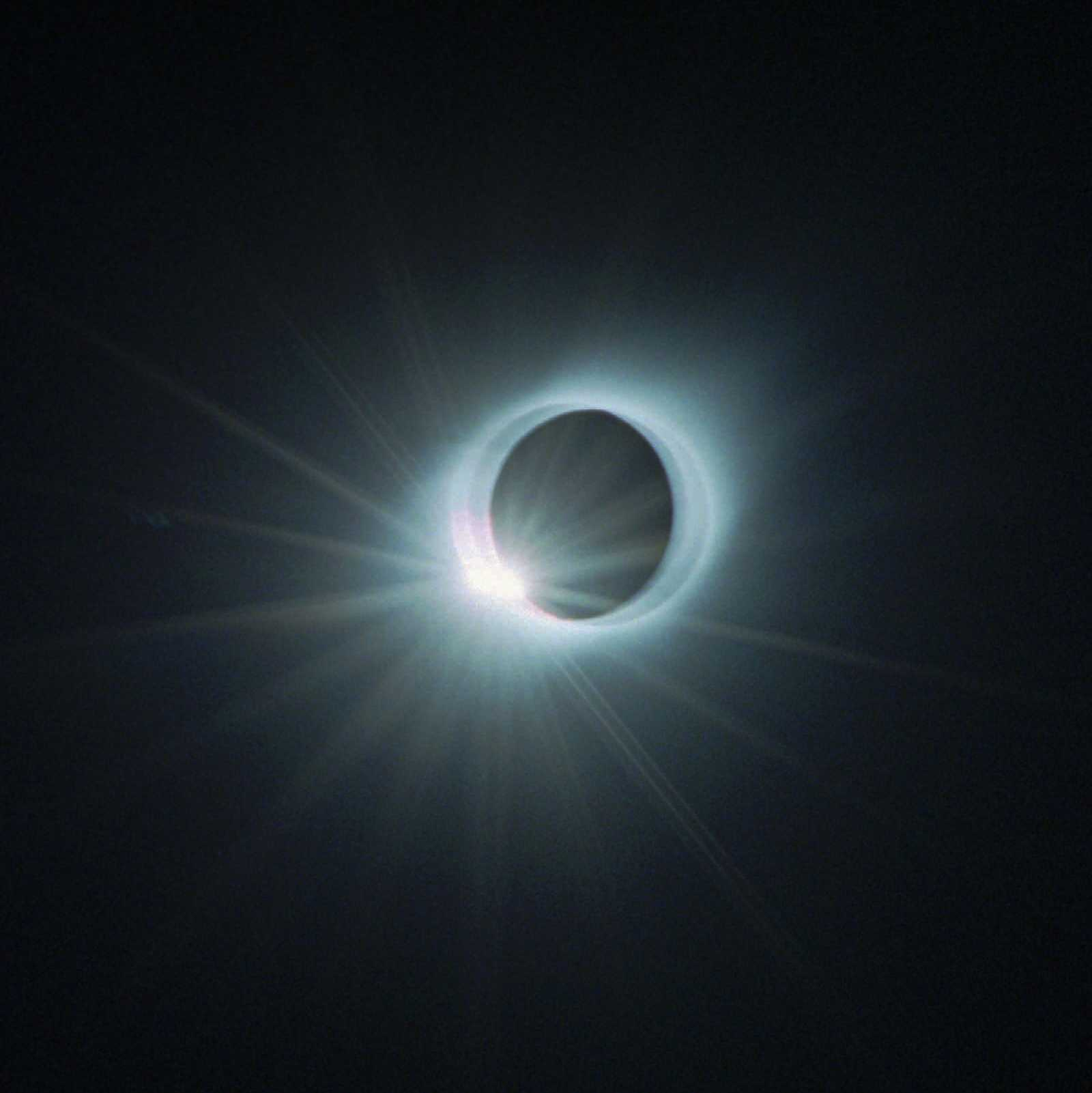 A total solar eclipse is seen above El Pico in Punto Fijo, Venezuela on Feb. 26, 1998. Parts of northern Venezuela, northern Colombia and the Caribbean witnessed the Western Hemisphere's last total solar eclipse of the century.