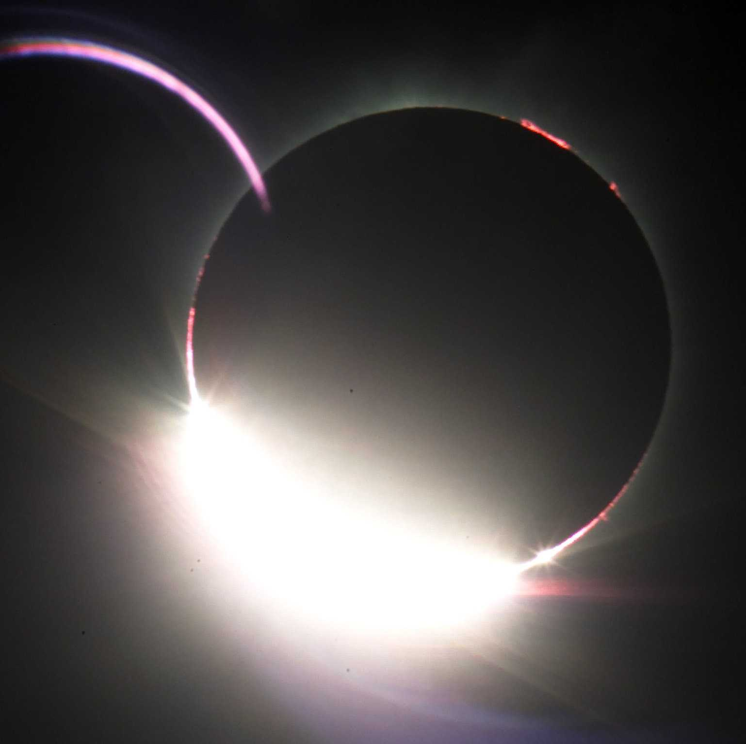 The Diamond Ring appears after the totality of the solar eclipse in Ceduna, South Australia on Dec. 4, 2002.