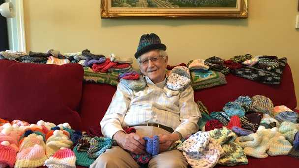 Ed Mosely is an 86-year-old grandfather whose new hobby is bringing joy to the Northside Hospital NICU.