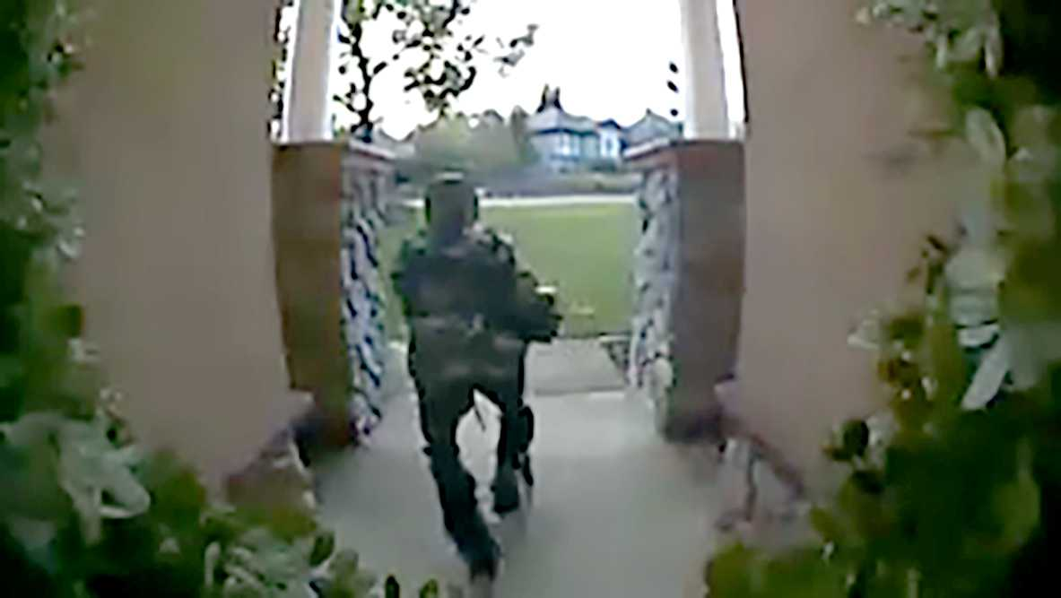 Surveillance camera captured a thief taking a package for an El Dorado Hills home on Jan. 12, 2017.