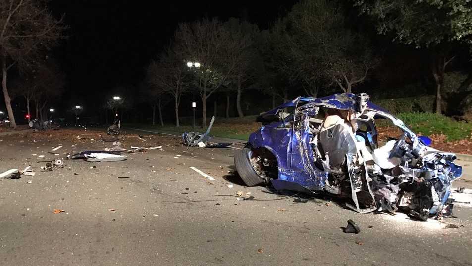 Police investigate a crash on Monday, Dec. 19, 2016, in Elk Grove.