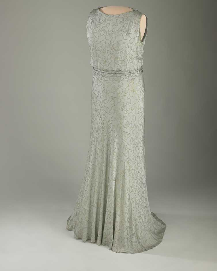 Eleanor Roosevelt wore this dress at the 1933 inaugural ball.