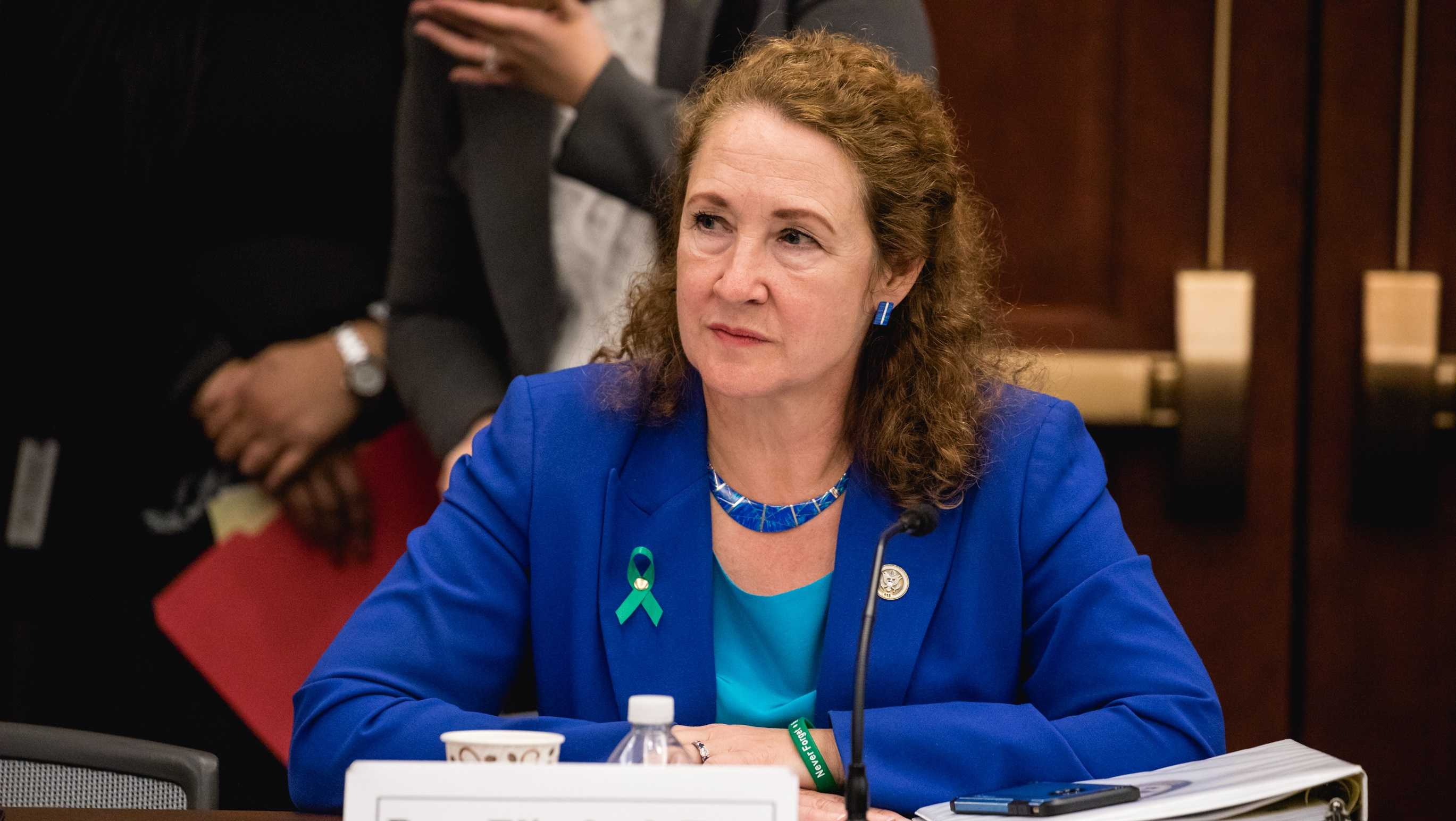 Rep. Elizabeth Esty (CT 5th District), speaks at a forum to examine evidence-based violence prevention and school safety measures in Washington, D.C., on Tuesday, March 20, 2018.