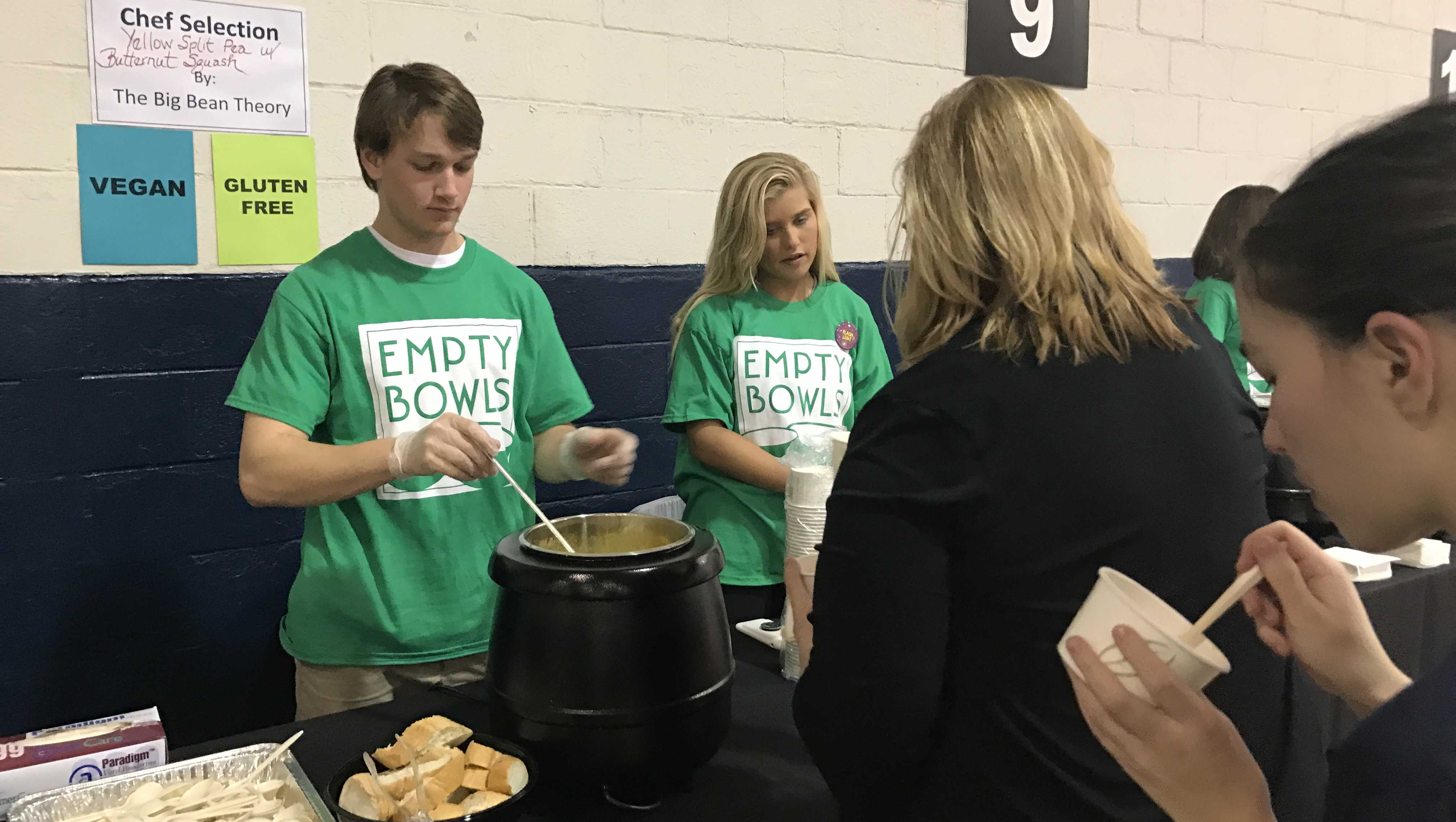 WBAL-TV team volunteers at Empty Bowls