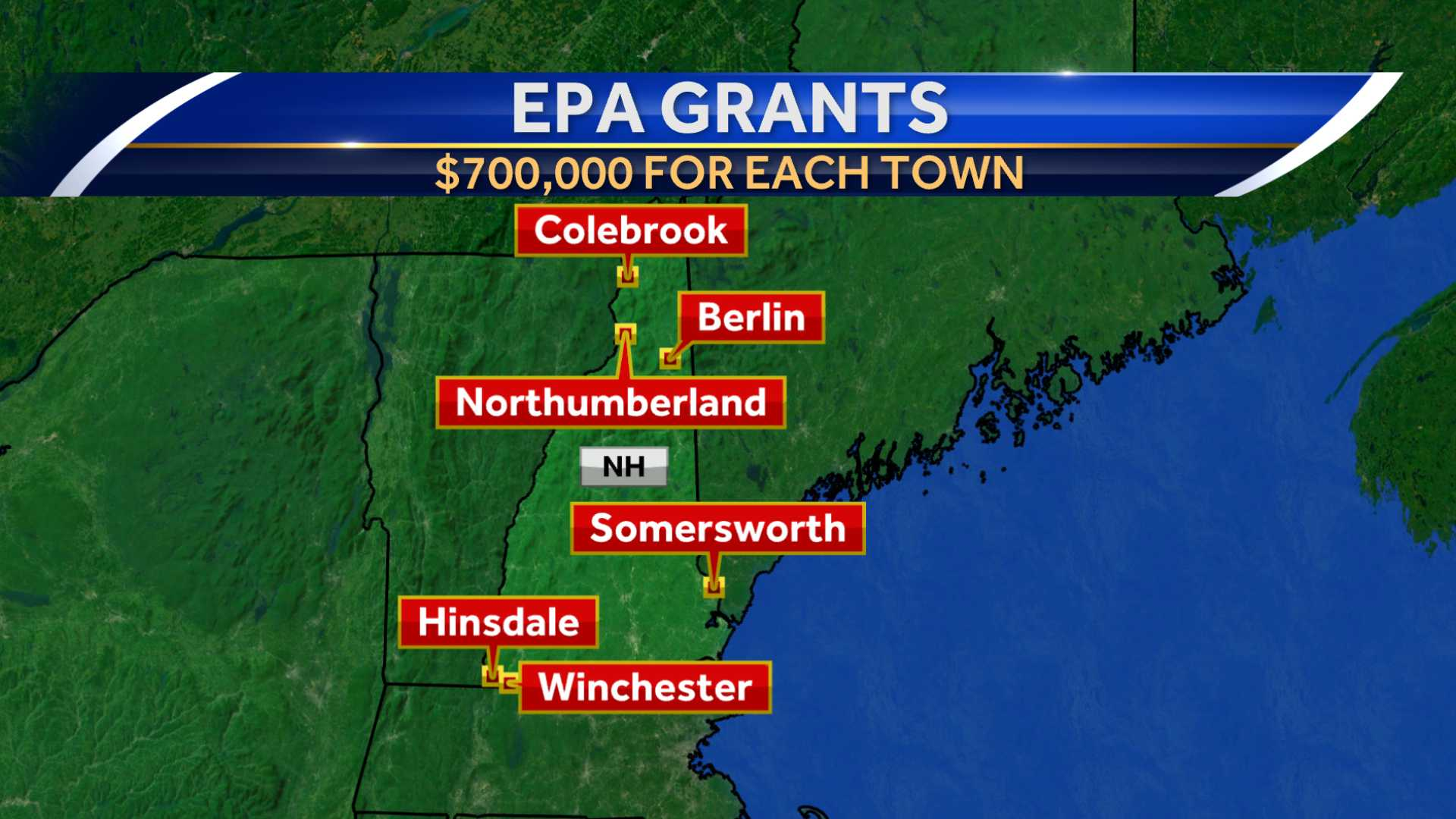 6 towns getting $700K in EPA grants to clean up sites