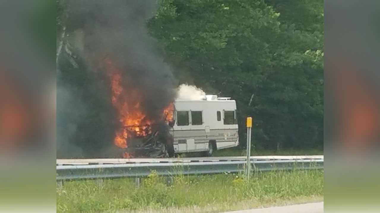 RV fire in Epping