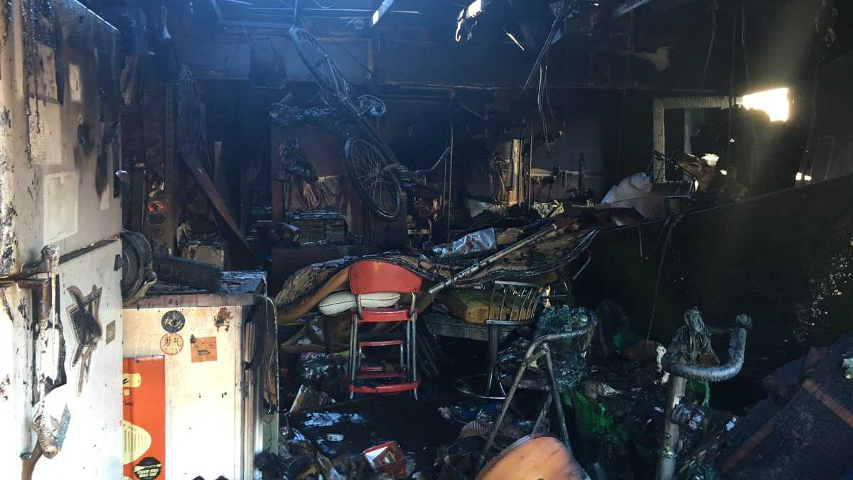 Sacramento Metro Fire put out a garage fire Saturday after barbeque coals ignited the flames.