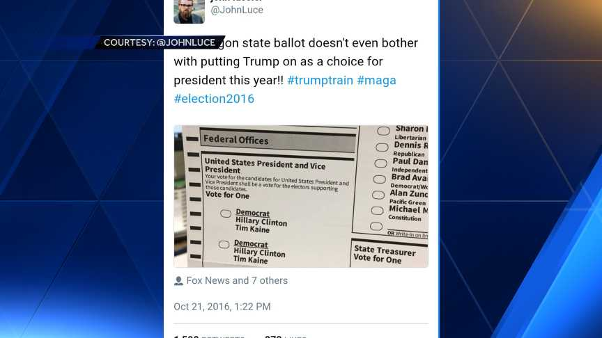 Fake Oregon ballot goes viral