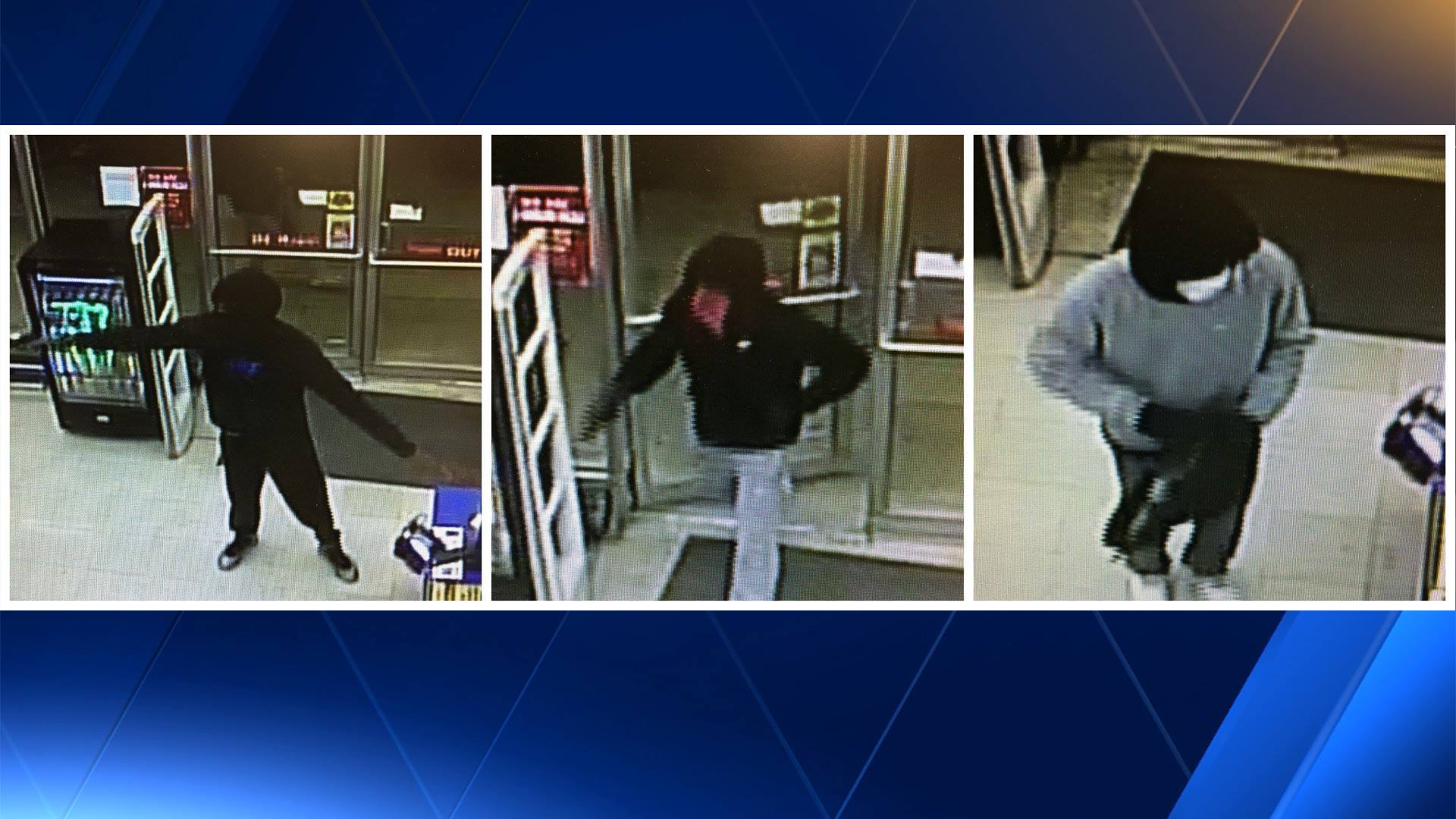 Surveillance images of three suspects in the robbery at the Family Dollar on School Avenue in Fayetteville