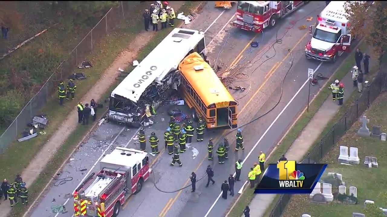 Fatal school bus, MTA bus crash