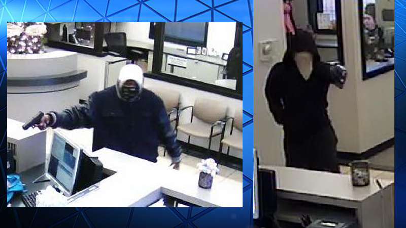 Surveillance images show the suspects in the Arvest Bank Robbery on Wedington in Fayetteville