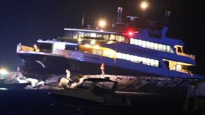 Ferry crashes into jetty, at least 6 injured