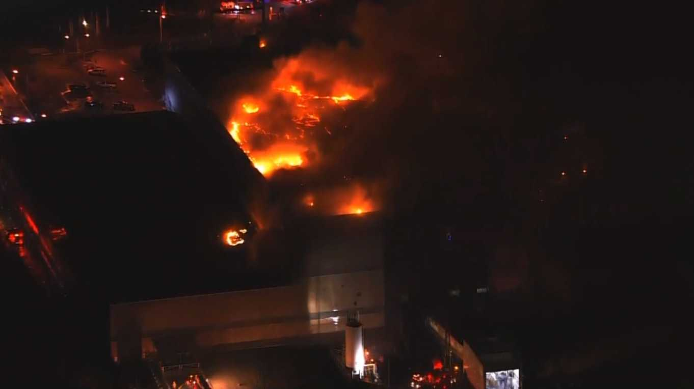 Fairfax County Recycling Fire