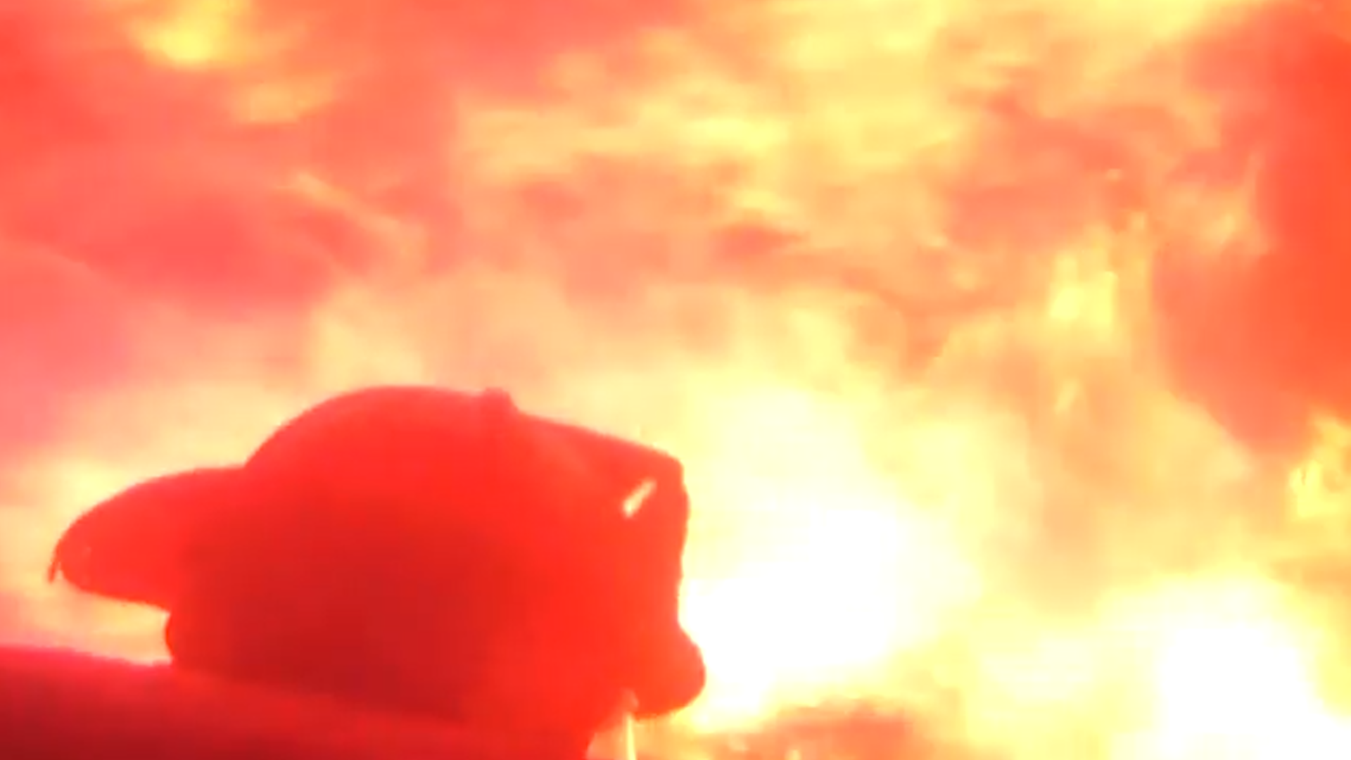 Helmet-cam video shows Birmingham firefighters battling a house fire on Avenue J.