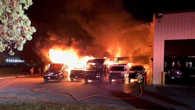 UPS building fire