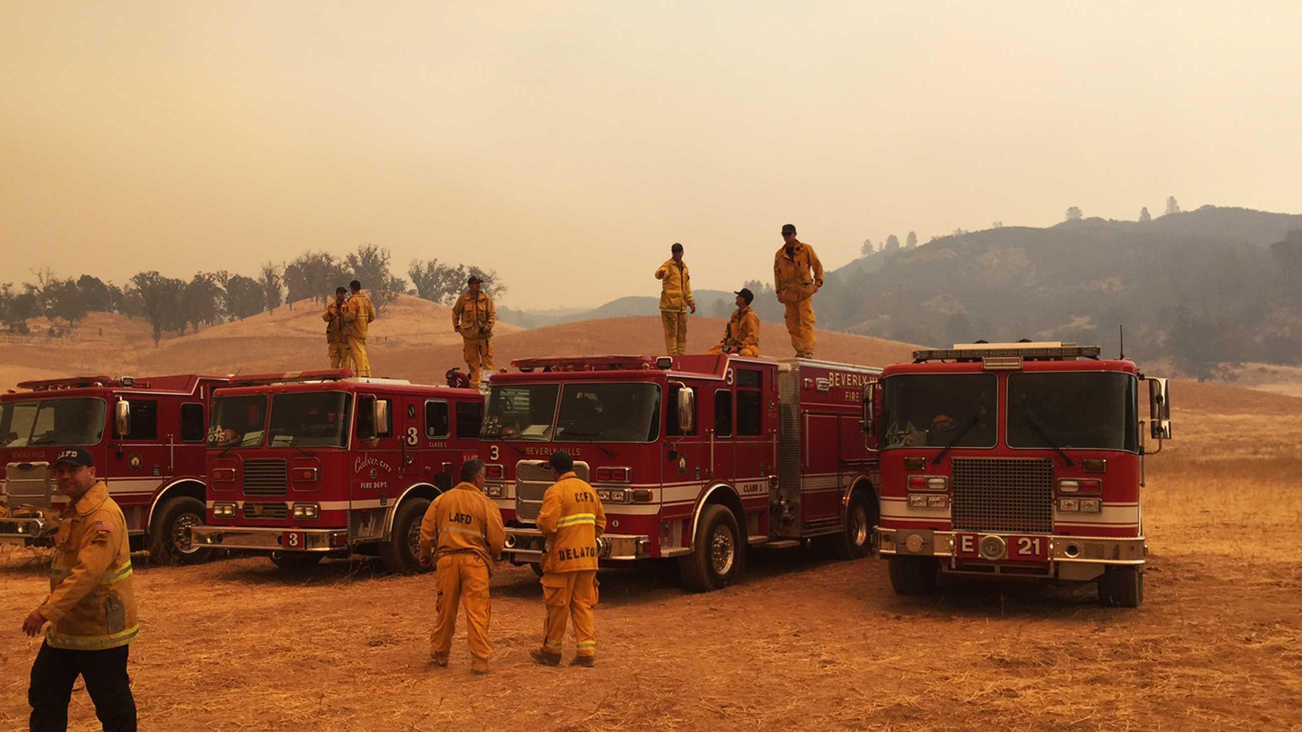 Chimney Fire firefighters