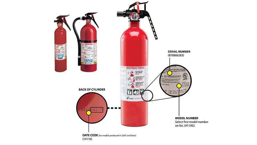 Kidde plastic-handle fire extinguishers