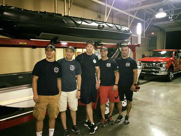 Five city firefighters join rescue teams headed to Texas