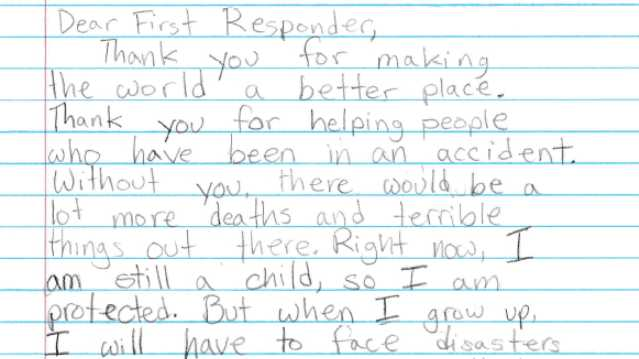 Children send letters to police thanking them for their sacrifices expocarfo Gallery