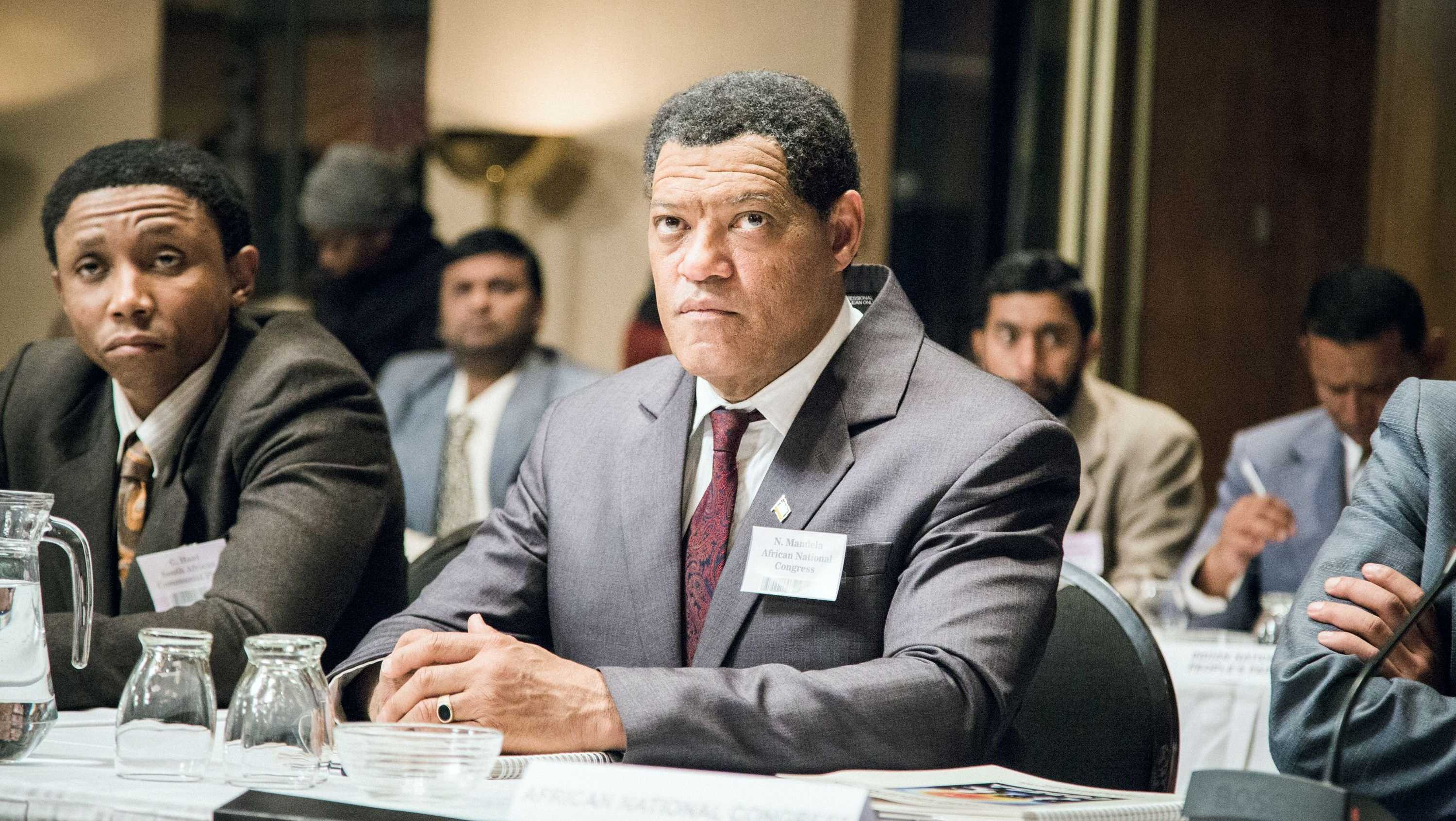"Laurence Fishburne plays South African leader Nelson Mandela in BET's ""Madiba."""