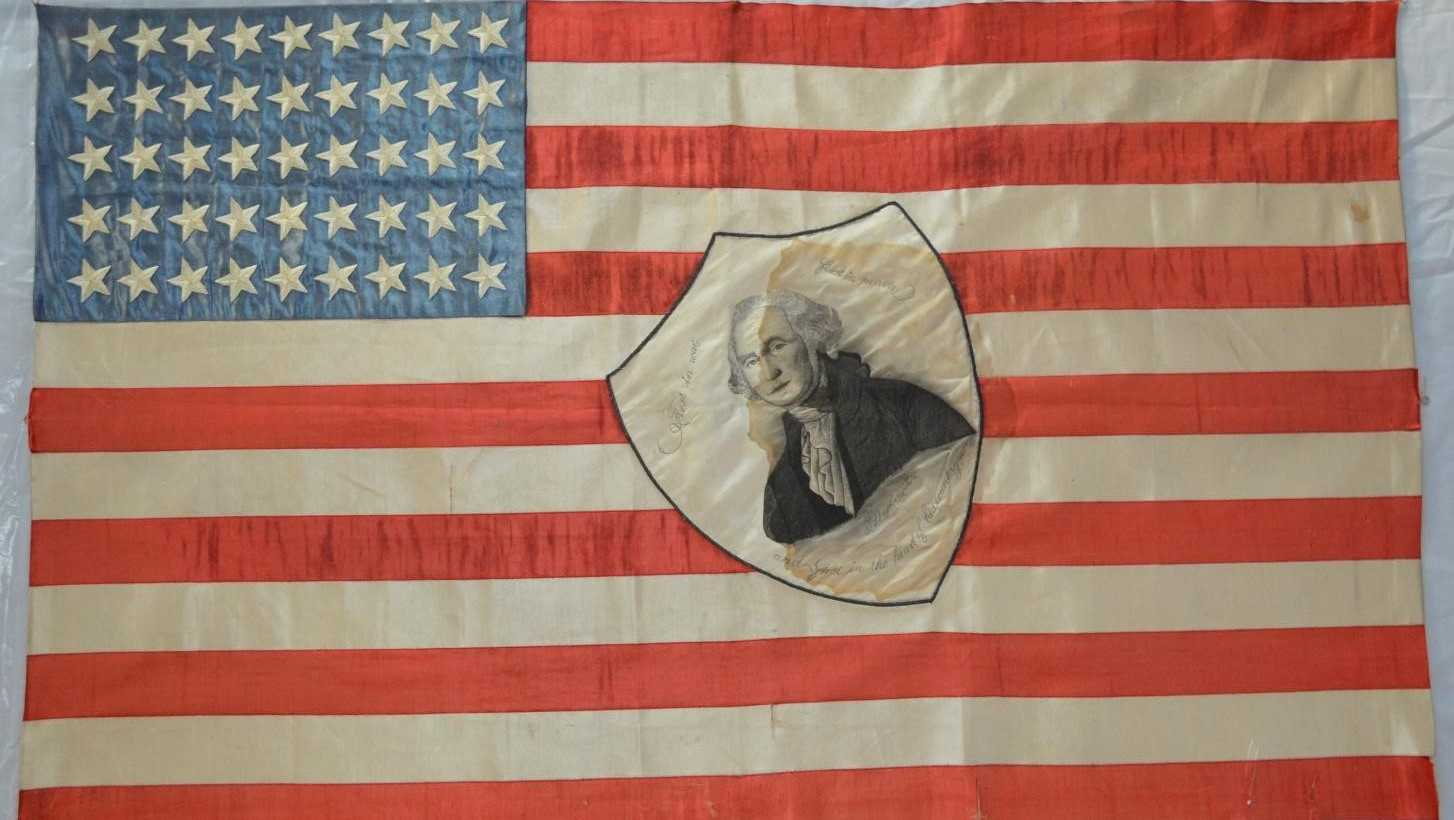 Flag made by former First Lady Edith Roosevelt